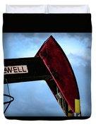 2017_09_midkiff Tx_oil Well Pump Jack Closeup 2 Duvet Cover