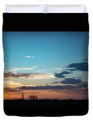 2017_09_midkiff Tx_rigs At Sunset 1 Duvet Cover