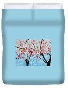 201726 Cherry Blossoms Duvet Cover