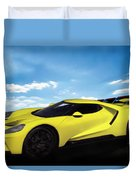 2018 Ford Gt At The Track Duvet Cover