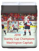 2018 Stanley Cup Champions Washington Capitals Duvet Cover