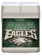 2018 Superbowl Eagles Barn Wall Duvet Cover