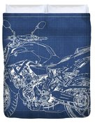 2018 Yamaha Mt07,blueprint,blue Background,fathers Day Gift, 2018 Duvet Cover