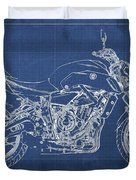 2018 Yamaha Mt07,blueprint,blue Background,fathers Day Gift Duvet Cover