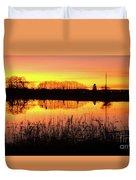 2018_2_12  Vivid Sunset Reflection-4291 Duvet Cover