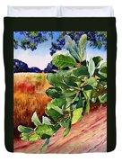 #203 Blue Oak Leaves 2 Duvet Cover