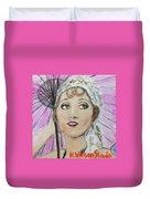 20's Glamour, Parasol Duvet Cover