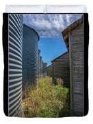 Back Alley On The Prairies Duvet Cover