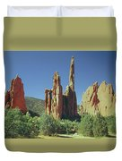 210806-h Spires In Garden Of The Gods Duvet Cover