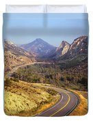212308 Road To Sheep Creek Canyon Duvet Cover