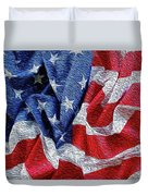 American Flag 40 Duvet Cover