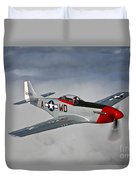 A P-51d Mustang In Flight Duvet Cover