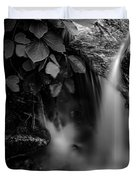 Broad River Flowing Through Wooded Forest Duvet Cover