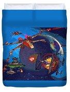 Galaxies Star Wars Poster Duvet Cover