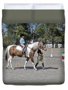 Manito Equestrian Center Benefit Horse Show Duvet Cover