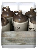 Moonshine In Wooden Crate Duvet Cover
