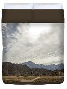 Rocks, Mountains And Sky At Alabama Hills, The Mobius Arch Loop  Duvet Cover