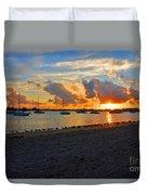 22- Sunset At Seagull Beach Duvet Cover