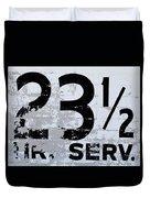 23 1/2 Hour Service Duvet Cover