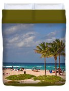 23- A Day At The Beach Duvet Cover
