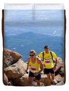 Pikes Peak Marathon And Ascent Duvet Cover