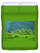 The Beautiful Karst Rural Scenery Duvet Cover