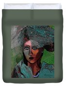 239 - Young Woman In Green Dress 2017 Duvet Cover