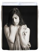 Claudia Nude Fine Art Print In Sensual Sexy Black And White Or S Duvet Cover
