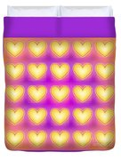 25 Little Yellow Love Hearts Duvet Cover