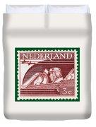Old Dutch Postage Stamp Duvet Cover