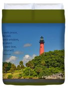 255- Becca Lee - Jupiter Lighthouse Duvet Cover