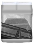 World Trade Center Under Construction 1967 Duvet Cover