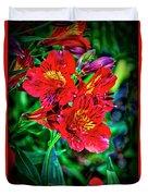 2647- Red Flowers Duvet Cover