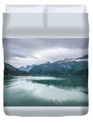 Glacier And Mountains Landscapes In Wild And Beautiful Alaska Duvet Cover