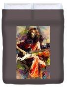 Jimmy Page. Led Zeppelin. Duvet Cover