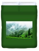 Mountain Scenery In The Mist Duvet Cover