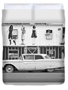 Route 66 Cars Cafes Restaurants Hotels Motels Duvet Cover