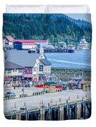 Scenery Around Alaskan Town Of Ketchikan Duvet Cover