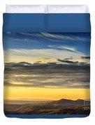 Allegheny Mountain Sunrise Duvet Cover