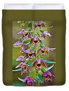 Helleborine On North Country Trail In Pictured Rocks National Lakeshore-michigan  Duvet Cover