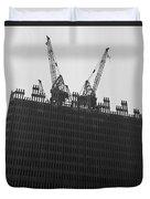 World Trade Center Under Construction 1967 Duvet Cover