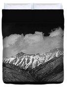 2d07509-bw High Peaks In Lost River Range Duvet Cover