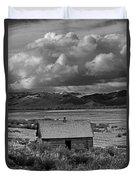 2d07515-bw Abandoned Cabin Duvet Cover