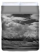 2d07517-bw Storm Over Lost River Range Duvet Cover