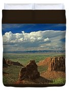 2d10338 Thunderhead Over Independence Monument Duvet Cover
