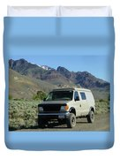 2da5944-dc Our Sportsmobile At Steens Mountain Duvet Cover
