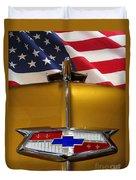 1954 Chevrolet Hood Emblem Duvet Cover