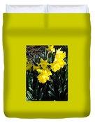 A Daffodil Exhibit Duvet Cover