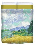 A Wheatfield With Cypresses Duvet Cover