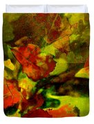 Abstract Landscape, Fall Theme Duvet Cover